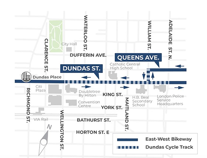 Dundas Place project map
